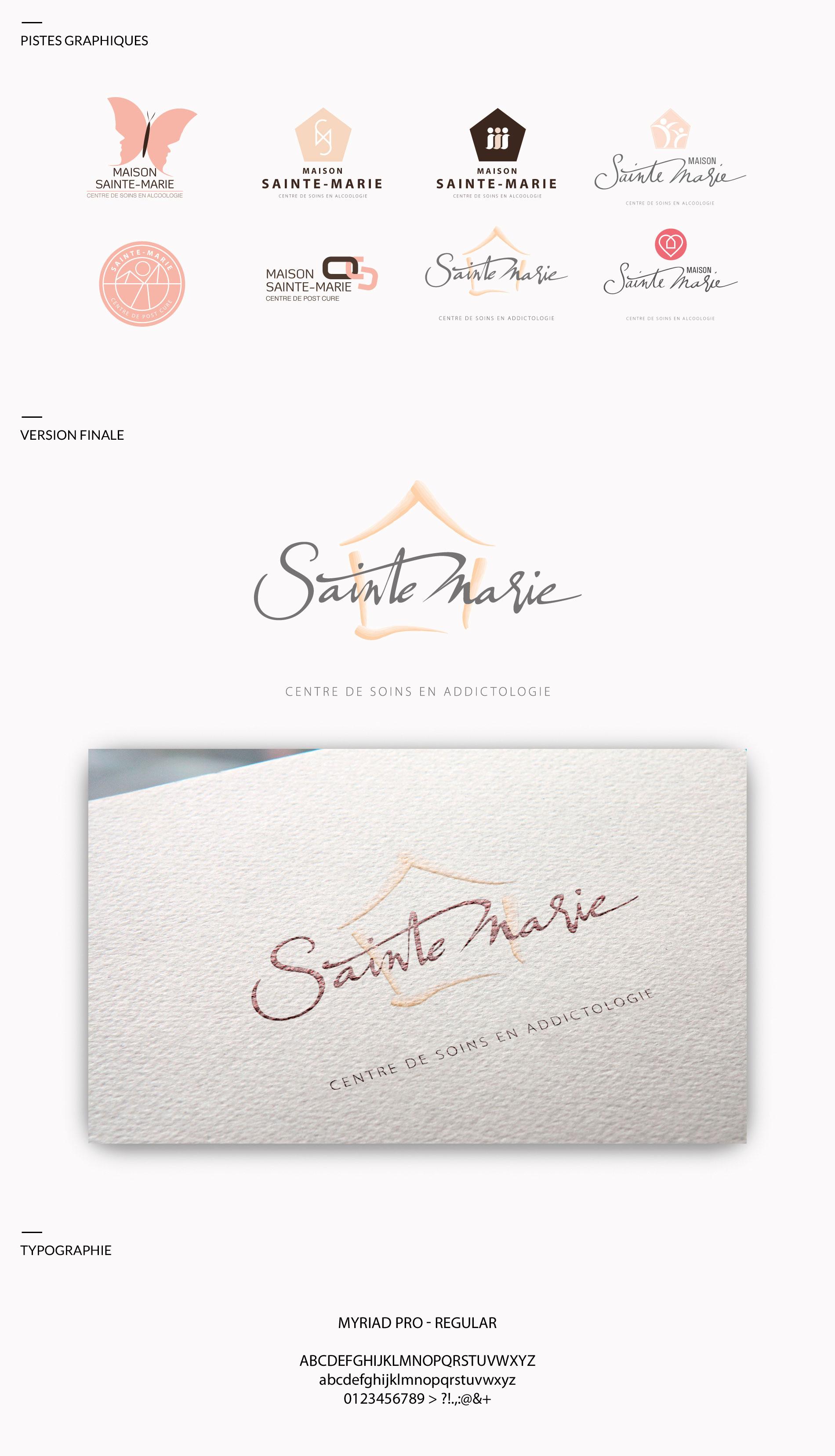 Identité visuelle Maison Sainte-Marie